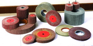 flap wheel with sand cloth or sand paper